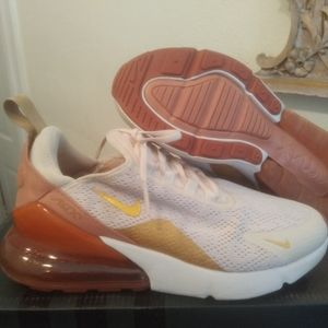 Nike Air Max 270 Light Cream Gold Women's Size 6.5